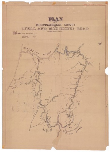 Original miners' survey map. | circ. 1886